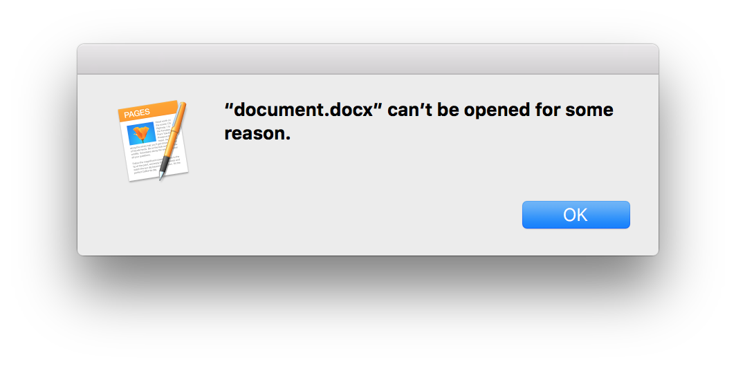 docx Pages error